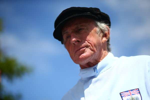 2017 Goodwood Festival of Speed. Goodwood Estate, West Sussex, England. 30th June - 2nd July 2017. Jackie Stewart (GBR) Tyrrell 006  World Copyright : JEP/LAT Images