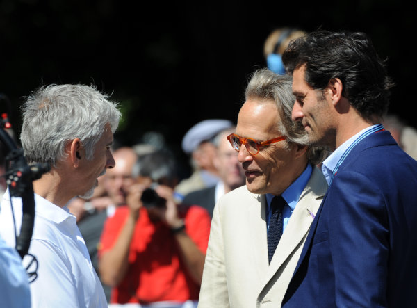 2017 Goodwood Festival of Speed Goodwood Estate, West Sussex,England 30th June - 2nd July2017 Damon Hill Lord March Mark Webber World Copyright : Jeff Bloxham/LAT Images Ref : Digital Image