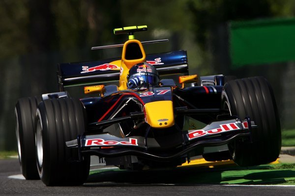 Christian Klien (AUT) Red Bull Racing RB1. Formula One World Championship, Rd4, San Marino Grand Prix, Practice, Imola, Italy, 22 April 2005. DIGITAL IMAGE BEST IMAGE