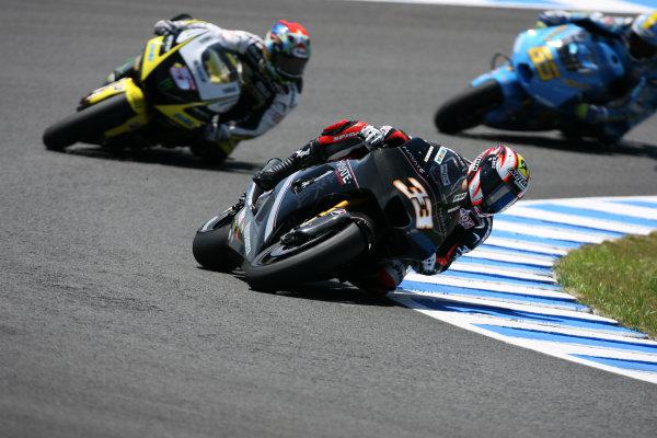 Jerez,Spain.1st - 3rd May 2009.Marco Melandri Hayate Racing Team leads Colin Edwards Monster Yamaha Tech 3 and Loris Capirossi Rizla Suzuki TeamWorld Copyright: Martin Heath/LAT Photographic.ref: BPI_Moto 816e