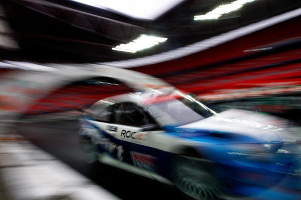 Wembley Stadium, London.  13th December 2008. Ford Focus WRC 08 on track. Action. World Copyright: Andrew Ferraro/LAT Photographic ref: Digital Image _H0Y7772