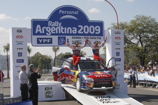 Round 05Rally Argentina 24- 27 of April 2009Daniel Elena, Sebastien Loeb, Citroen, WRC, PodiumWorldwide Copyright: McKlein/LAT