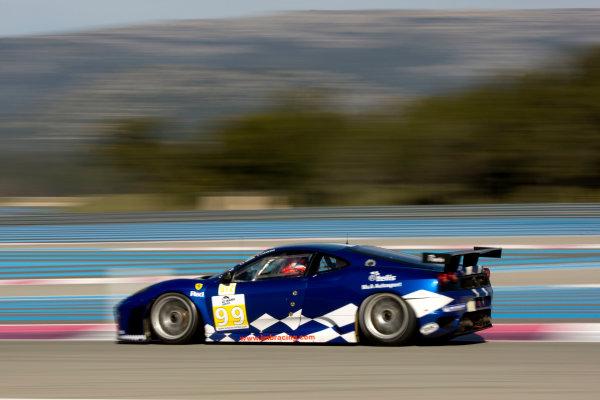 Circuit Paul Ricard, France. 8th March 2009. Ben Aucott / Stephane Daoudi, (JMB Racing) Ferrari 430 GT. Action. World Copyright: Drew Gibson/LAT Photographic.ref: Digital Image DG0_2759