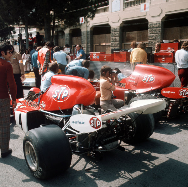 Monte Carlo, Monaco.11-14 May 1972.The works March team in the paddock.Ref-3/5067D.World Copyright - LAT Photographic