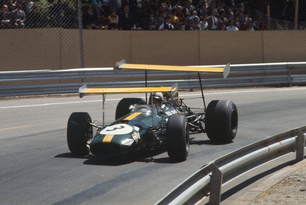 Montjuich Park, Barcelona, Spain. 2-4 May 1969.  Jack Brabham (Brabham BT26 Ford).  Ref: 69ESP04. World Copyright: LAT Photographic