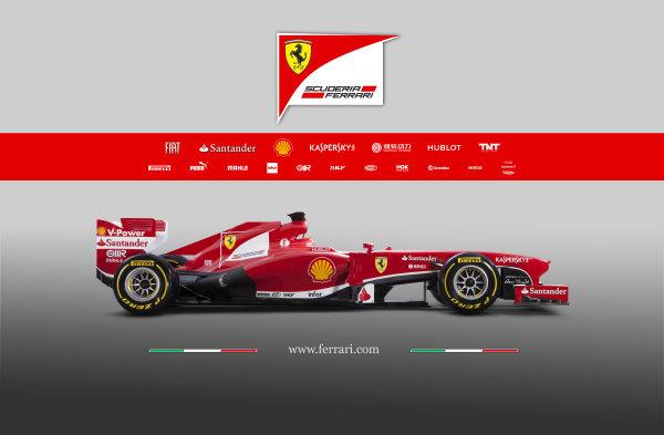 Maranello, Italy   The new Ferrari F138. Studio image. Photo: Ferrari (  ref: Digital Image 130006_f138