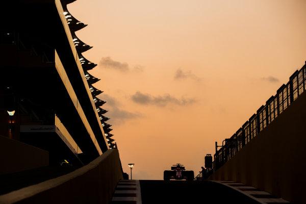 Yas Marina Circuit, Abu Dhabi, United Arab Emirates. Tuesday 28 November 2017. Nikita Mazepin, Force India VJM10 Mercedes.  World Copyright: Zak Mauger/LAT Images  ref: Digital Image _O3I0782