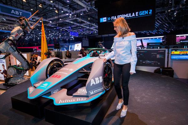 2017/2018 FIA Formula E Championship. Geneva Motor Show Tuesday 6 March 2018. The FIA Formula-E Gen2 car is unveiled. Photo: Sam Bloxham/LAT/Formula E ref: Digital Image _W6I3967
