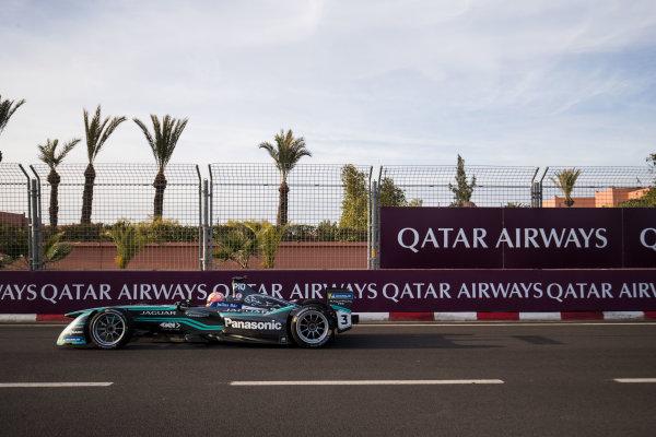 2017/2018 FIA Formula E Championship.Round 3 - Marrakesh ePrix.Circuit International Automobile Moulay El Hassan, Marrakesh, Morocco.Saturday 13 January 2018.Nelson Piquet Jr. (BRA), Panasonic Jaguar Racing, Jaguar I-Type II.Photo: Zak Mauger/LAT/Formula Eref: Digital Image _56I6297
