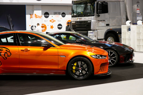 Autosport International Exhibition. National Exhibition Centre, Birmingham, UK. Thursday 11th January 2017. The Jaguar XE SV Project 8.World Copyright: Glenn Dunbar/LAT Images Ref: _X4I4066