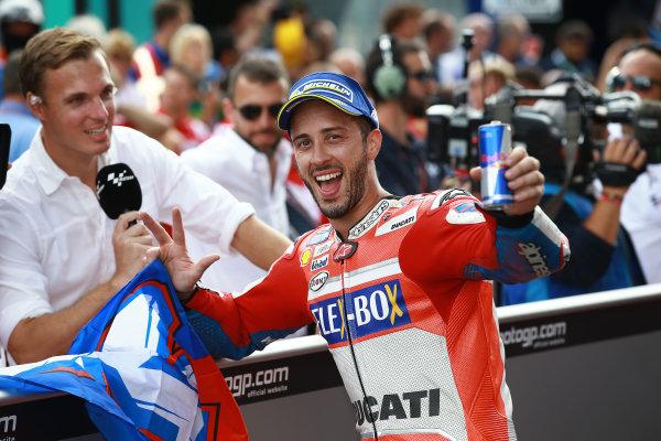 2017 MotoGP Championship - Round 11 Spielberg, Austria Sunday 13 August 2017 Race winner Andrea Dovizioso, Ducati Team World Copyright: Gold and Goose / LAT Images ref: Digital Image 686852