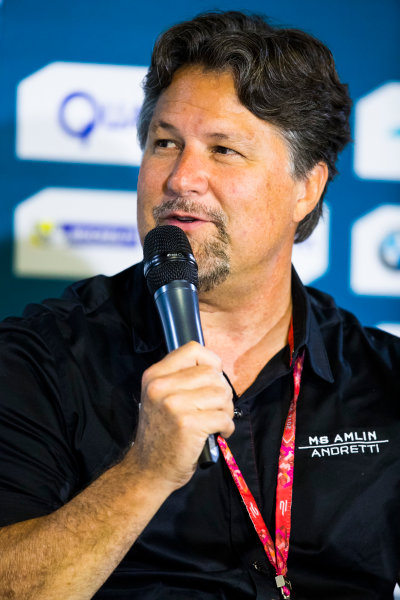 2016/2017 FIA Formula E Championship. Round 9 - Brooklyn, New York City, United States of America Friday 14 July 2017. Michael Andretti. Photo: Sam Bloxham/LAT/Formula E ref: Digital Image _W6I1496