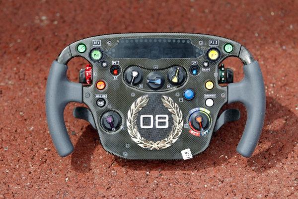 Monte Carlo, Monaco15th May 2010Diamond encrusted steering wheel for Lewis Hamilton, McLaren MP4-25 Mercedes. Detail. World Copyright: Steven Tee/LAT Photographicref: Digital Image _A8C0633
