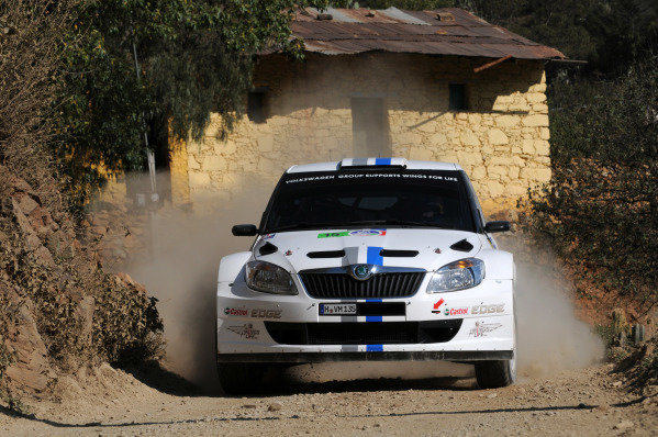 Sebastien Ogier (FRA) and Julien Ingrassia (FRA), Skoda S2000, on stage 3.FIA World Rally Championship, Rd3, Rally Guanajuato Mexico, Leon, Mexico, Day One, Friday 9 March 2012.