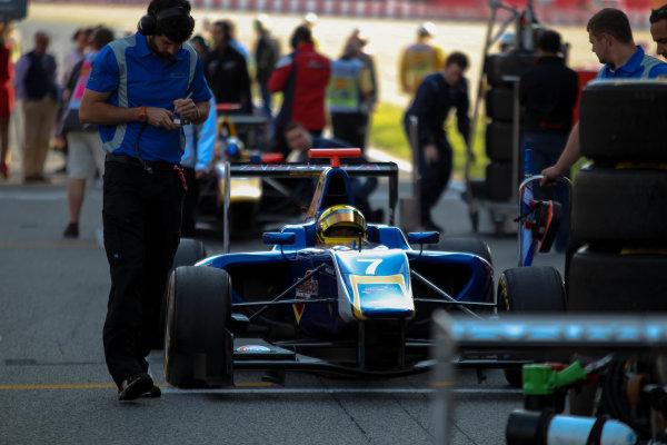 2013 GP3 Series. Round 1.  Circuit de Catalunya, Barcelona, Spain.  12th May Sunday Race 02 Luis Sa Silva (  Portrait  World Copyright: Malcolm Griffiths/GP3 Media Service.  Ref: Digital ImageC76D5661.JPG