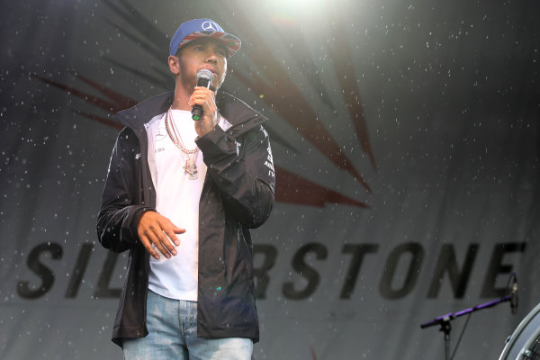 Silverstone, Northamptonshire, UK Sunday 10 July 2016. Lewis Hamilton, Mercedes AMG, at the Grand Prix after party. World Copyright: Jakob Ebrey/LAT Photographic ref: Digital Image Hamilton-05