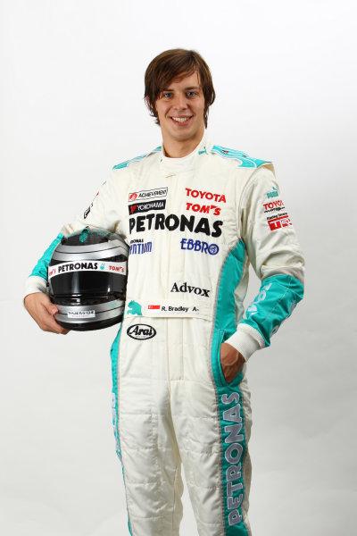 2011 Japanese Formula Three ChampionshipRound 1 & 2 - Suzuka, Japan.14th - 15th May 2011.Richard Bradley ( #36 PETRONAS TEAM TOM'S ), portrait.World Copyright: Yasushi Ishihara/LAT Photographicref: Digital Image 2011JF3_R1_009