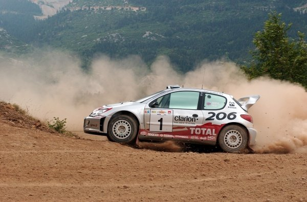 Richard Burns (GBR) Peugeot 206 WRCWorld Rally Championship,  Acropolis Rally Shakedown. 13 June 2002.DIGITAL IMAGE