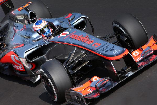 Autodromo Nazionale di Monza, Monza, Italy. 7th September 2012. Jenson Button, McLaren MP4-27 Mercedes.  World Copyright: Steve Etherington/LAT Photographic ref: Digital Image SNE23941 copy