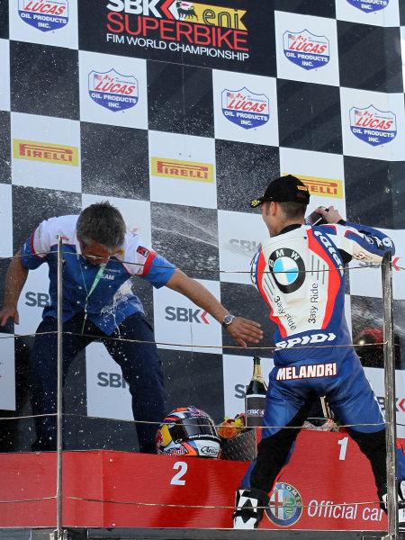 28 May 2012, Miller Motorsports Park, Tooele, Utah USAMarco Melandri, BMW Motorrad Motorsport World Copyright; Rebecca McKay/LAT Photographic