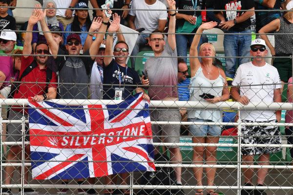 Silverstone fans at Formula One World Championship, Rd15, Malaysian Grand Prix, Qualifying, Sepang, Malaysia, Saturday 30 September 2017.