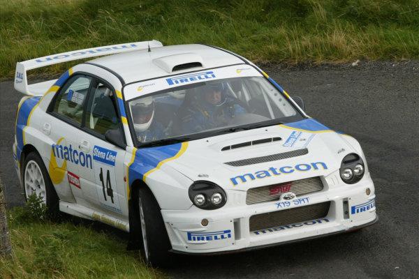 2002 British Rally ChampionshipRally of Ulster, Ireland. 6th - 7th September 2002.Derek McGarrity (Subaru Impreza WRC 2001), action.World Copyright: Jacob Ebbrey/LAT Photographicref: Digital Image Only