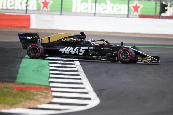 Romain Grosjean, Haas VF-19 spins