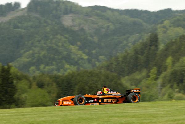 2002 Austrian Grand Prix - PracticeA-1 Ring, Zeltweg, Austria. 10th May 2002Enrique Bernoldi, Arrows Cosworth A23, action.World Copyright: Pic Steve Etherington/LATref: Digital Image Only