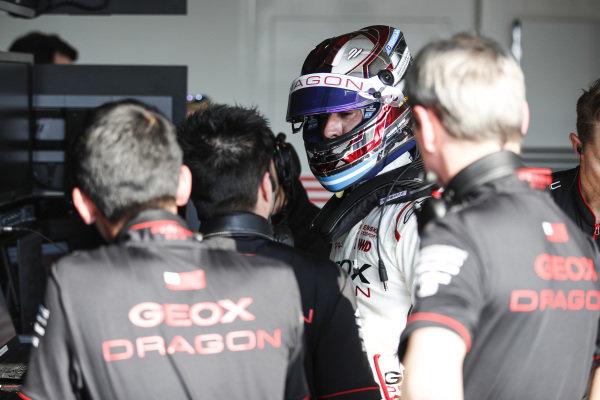 Jose Maria Lopez (ARG), GEOX Dragon Racing, Penske EV-3, in the garage