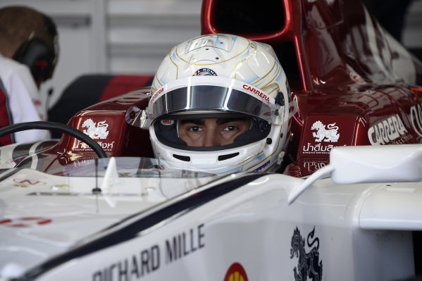Juan Manuel Correa (USA) Alfa Romeo Racing in his first Formula 1 test in a Sauber C32 fitted with Ferrari V8 atmospheric engine