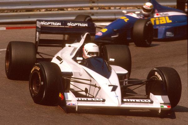 Monte Carlo, Monaco.4-7 May 1989.Martin Brundle (Brabham BT58 Judd) 6th position.Ref-89 MON 34.World Copyright - LAT Photographic