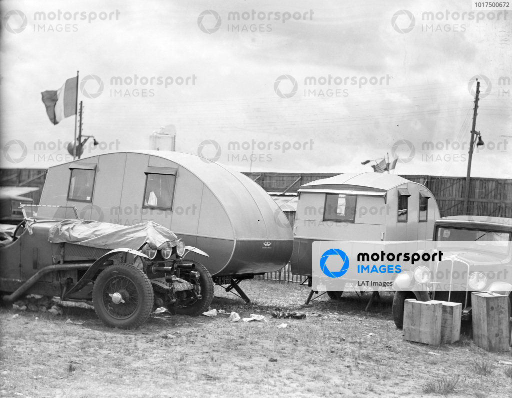 A couple of Car Cruiser caravans in the paddock.