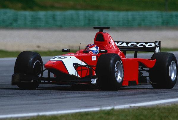 2002 F3000 ChampionshipA1-Ring, Austria. 11th May 2002.Race winner Tomas Enge (Arden), actiion.World Copyright: Charles Coates/LAT Photographicref: 35mm Image A02