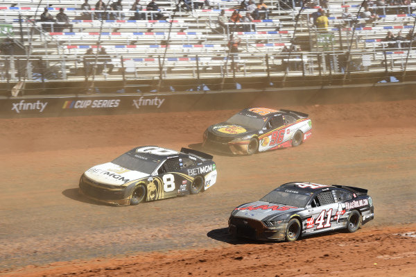 #8: Tyler Reddick, Richard Childress Racing, Chevrolet Camaro NASCAR Trucks at Knoxville,\ #41: Cole Custer, Stewart-Haas Racing, Ford Mustang HaasTooling.com