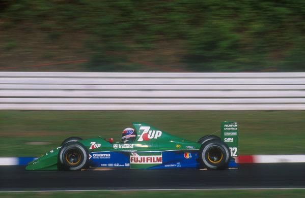 1991 German Grand Prix.Hockenheim, Germany.26-28 July 1991.Bertrand Gachot (Jordan 191 Ford) 6th position.Ref-91 GER 09.World Copyright - LAT Photographic