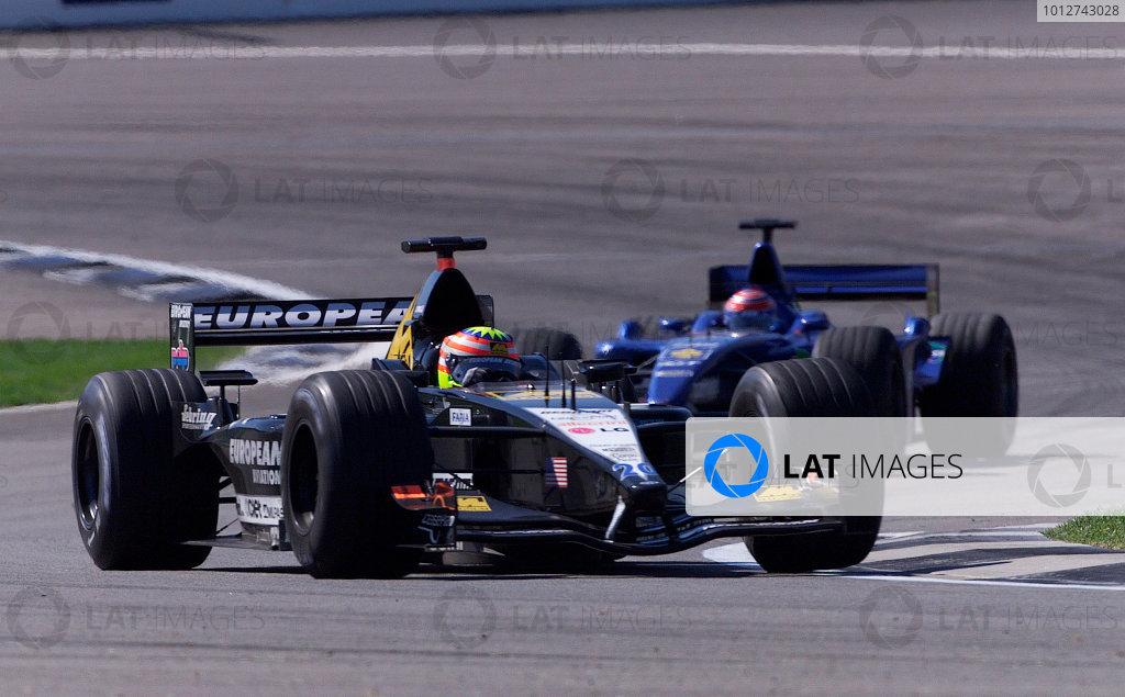 2001 American Grand Prix - RaceIndianapolis, United States. 30th September 2001.Alex Yoong, European Minardi PS01, action.World Copyright: Steve Etherington/LAT Photographicref: 18mb Digital Image