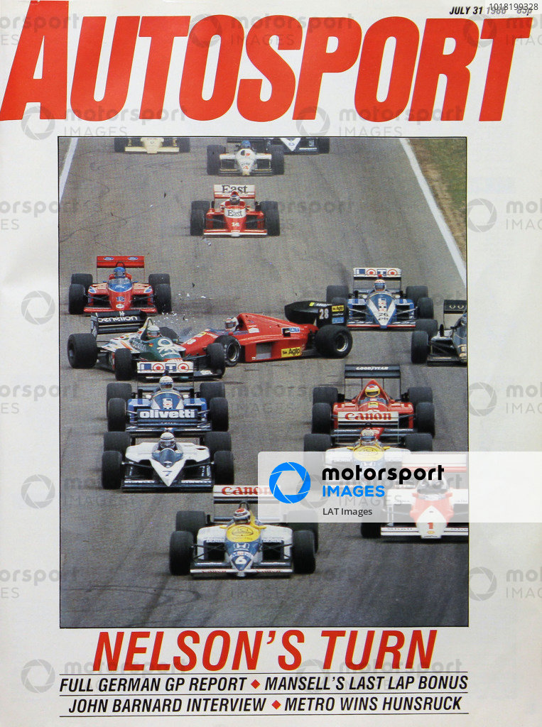 Cover of Autosport magazine, 31st July 1986