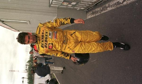 1998 Canadian Grand Prix.Montreal, Quebec, Canada. 5-7 June 1998.Damon Hill (Jordan Mugen Honda) after retiring from the race.World Copyright - Steve Etherington/LAT Photographic
