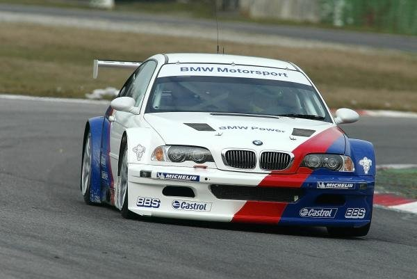 Ralf Schumacher (GER) tries out the BMW M3 GTR which will take part in the Nurburgring 24 Hours.