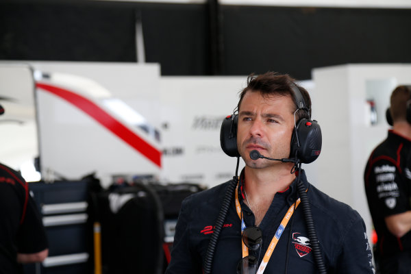 Miami e-Prix Race 2015. Oriol Servia - Director of Racing at Dragon Racing.  FIA Formula E World Championship. Miami, Florida, USA. Saturday 14 March 2015.  Copyright: Adam Warner / LAT / FE ref: Digital Image _L5R4109
