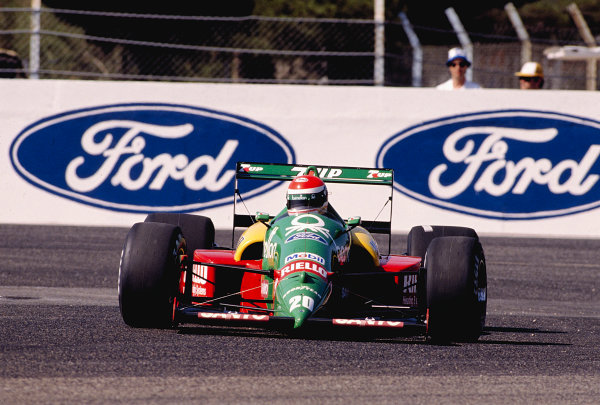 1989 French Grand Prix. Paul Ricard, Le Castellet, France. 7-9 July 1989. Emanuele Pirro (Benetton B188 Ford) 9th position. Ref-89 FRA 35. World Copyright - LAT Photographic