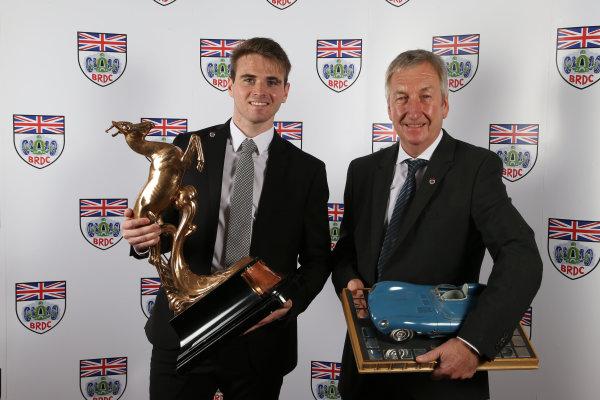 2015 British Racing Drivers Club Awards Grand Connaught Rooms, London Monday 7th December 2015 Oliver Rowland and Richard Dutton. World Copyright: Jakob Ebrey/LAT Photographic ref: Digital Image RowlandDutton-01