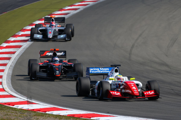 NURBURG (GER) Sept 11-13 2015 - World series by Renault 2015, round 7 at the Nurburgring. Oliver Rowland #4 Fortec, leads Nyck de Vries #1 Dams and Jazeman Jaafar #3 Fortec. Action. © 2015 Diederik van der Laan  / Dutch Photo Agency / LAT Photographic