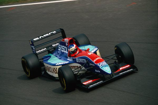 Monza, Italy. 10-12 September 1993.Rubens Barrichello (Jordan 931-Hart), retired, action. World Copyright: LAT Photographic.Ref:  Colour Transparency.