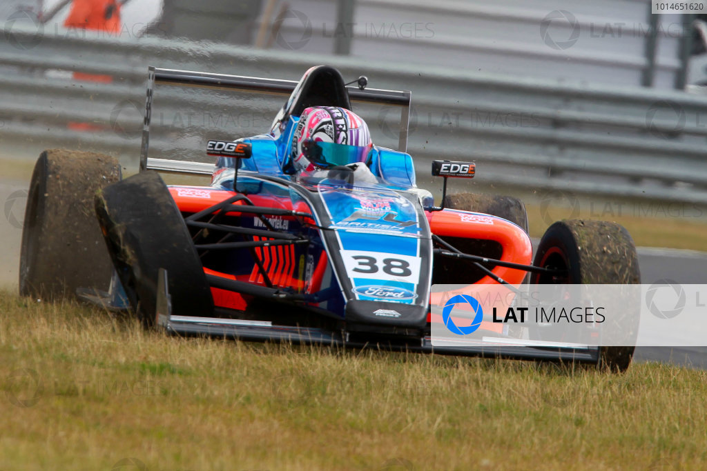 2016 British Formula 4 Championship, Snetterton, Norfolk. 29th - 31st July 2016. Jamie Caroline (GBR) Fortec Motorsports Ford British F4 retired from race 3. World Copyright: Ebrey / LAT Photographic.