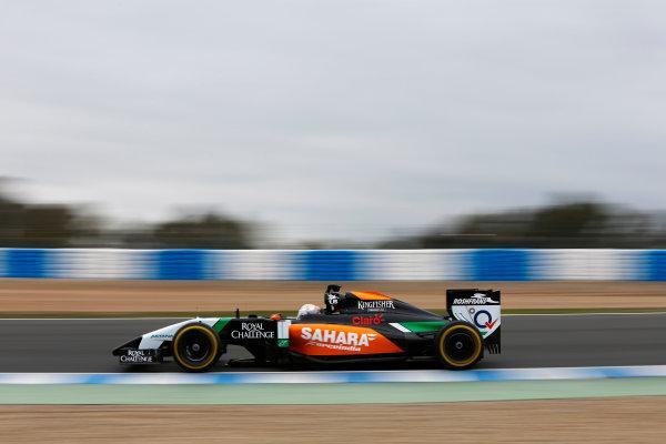 2014 F1 Pre Season Test 1 - Day 4 Circuito de Jerez, Jerez, Spain. Friday 31 January 2014. Daniel Juncadella, Force India VJM07 Mercedes. World Copyright: Andrew Ferraro/LAT Photographic. ref: Digital Image _79P7862.JPG