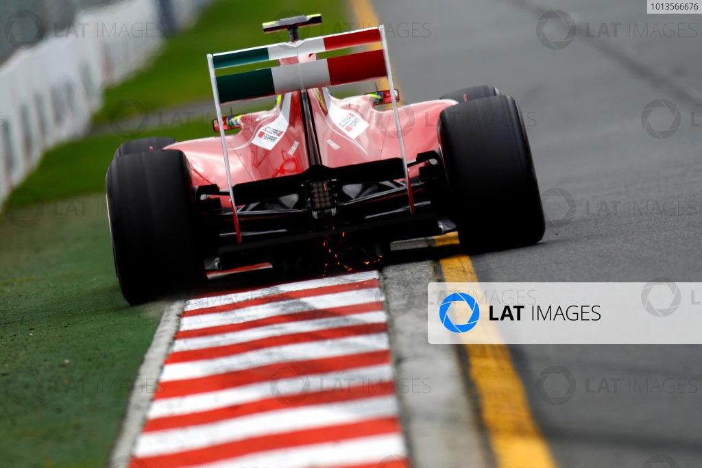 Albert Park, Melbourne, Australia 25th March 2011. Felipe Massa, Ferrari 150° Italia. Action.   World Copyright: Glenn Dunbar/LAT Photographic ref: Digital Image _G7C3193
