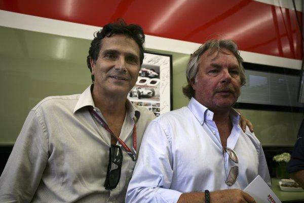 2006 German Grand Prix - Friday Practice Hockenheim, Germany. 27th - 30th July. Nelson Piquet and Keke Rosberg, portrait. World Copyright: Charles Coates/LAT Photographic ref: Digital Image ZK5Y1067