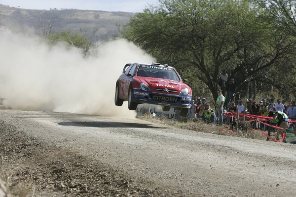 2005 FIA World Rally Championship Round 3, Mexico Rally. 10th - 13th March 2005. Sebastien Loeb,(Citroen Xsara WRC), 4th position, action. World Copyright: McKlein/LAT Photographic. ref: Digital Image Only.