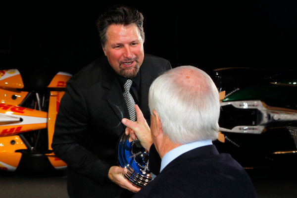 6 December, 2012, Indianapolis, Indiana USA Michael Andretti and Roger Penske.(c)2012, Russell LaBounty LAT Photo USA .